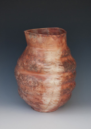 Saggar-fired Porcelain Vessel