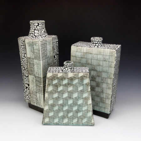 Bottle Forms with Mishima Designs