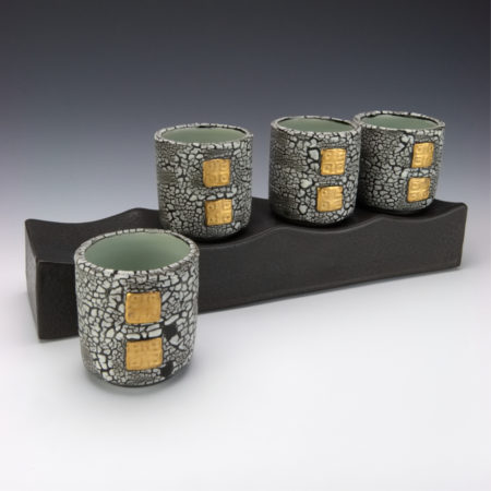 White Crackle Cup Set