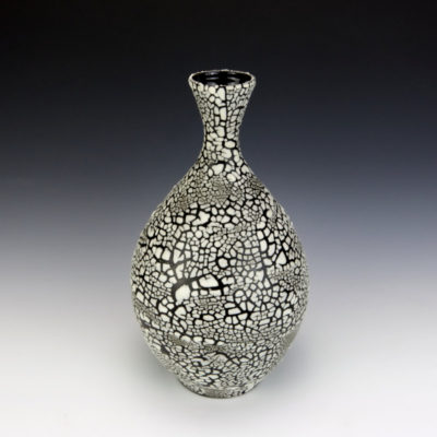 White Crackle Bottle
